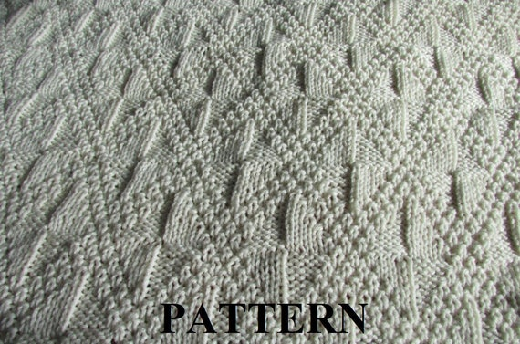 Irish Knit Baby Blanket Pattern : Knit Baby Blanket Pattern, Baby Blanket Pattern, Knitting Pattern Blanket, Kn...