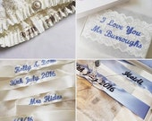Add on to garter - Embroidery - Name and/or date only (garter not included)