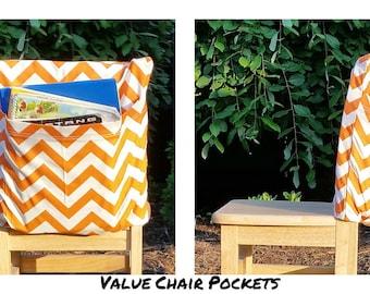 MADE2Order Chair Pockets Seat Sacks Teacher Classroom Organization Elementary School Seat Sacks Covers Expandable Pocket Chevron Duck