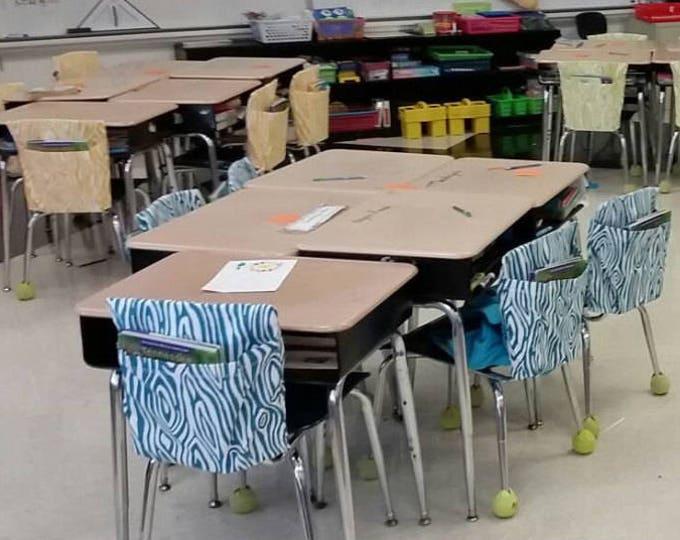 14 Inch VALUE Chair Pockets Seat Sacks Teacher Classroom Organization Elementary School Seat Sacks Covers Expandable Pocket Chevron Duck