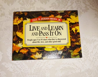 Vintage Book Live Learn and Pass It On Small Book