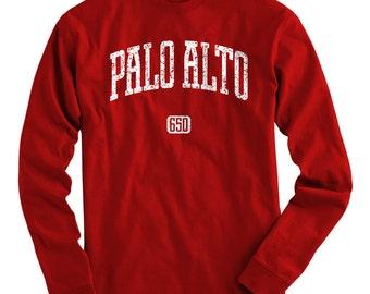 LS Palo Alto 650 California Tee - Long Sleeve T-shirt - Men S M L XL 2x 3x 4x - Gift for Men, Silicon Valley, Palo Alto Shirt, Santa Clara