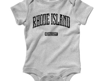 Baby One Piece - Rhode Island Represent - Infant Romper - NB 6m 12m 18m 24m - Baby Shower Gift, Rhode Island Baby, Providence Baby, Warwick