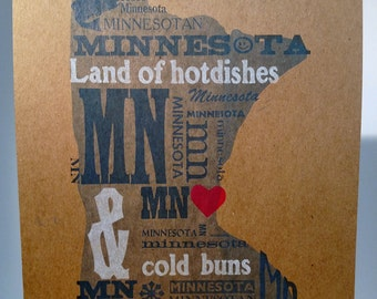 Hotdishes & Cold Buns MN Poster