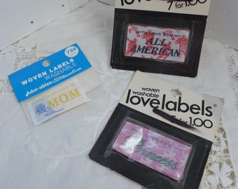 Vintage Woven Labels Handmade by NOS Available are Choices Princess,Ethel,Edith,Ruth,Dorothy,Evelyn