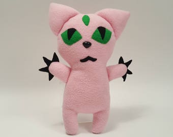Three Eyed Sphynx Pink Plush