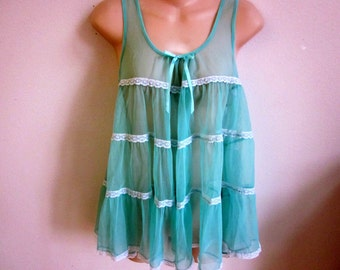 Victoria's Secret nightgown babydoll camisole sheer sexy lingerie  S