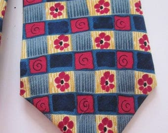 Silk Men's Tie J. Garcia Grateful dead Snail garden collection nine