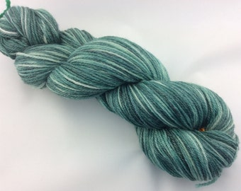 "Forest - Hearthside Fibers ""BaaBoo"" - Superwash Merino/Bamboo/Nylon Hand Dyed Sock Yarn"