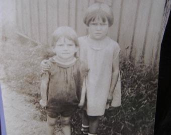 Vintage Snapshot Photo - Sweet Little Ragamuffins