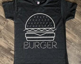 Adult BURGER shirt, cheeseburger t-shirt, I love burgers, burger clothing, Burger t-shirt