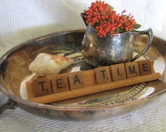 Vintage Display Silver Plate Set Tray with Creamer Tea Time Tea Party Home Interior Design F.B. Rogers Silver Co.