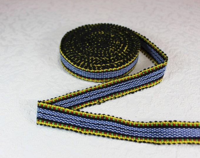 Woven Trim (6 yards), Woven Border, Cotton Ribbon, Grosgrain Ribbon, Dress Border, Border Trim, R155