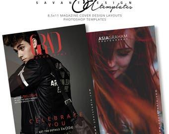 Photography Template, Magazine Cover, Senior Photography Templates, Photoshop Template Magazine Cover Layout, SMC601