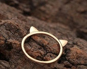 70% OFF CAT ears ring >> ears cocked.  cuz kitty knows all << donates to Humane Society