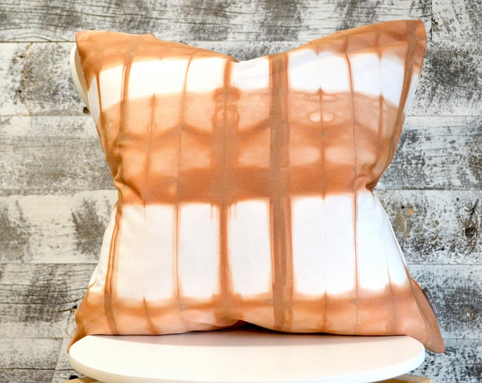 Organic Cotton  Shibori Pillow Cover 20x20 inches - Cedar