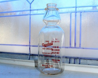 Vintage Cream Top Milk Bottle New Ulm Dairy Minnesota