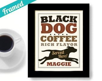 Black Labrador Retriever Kitchen Art Coffee Art Black Dog Art Print Kitchen Coffee Labrador Art Personalized Dog Art Coffee Shop Black Lab