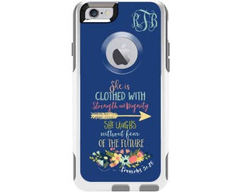 Proverbs 31:25 Personalized Custom Otterbox Commuter Case for iPhone 6 and iPhone 6s