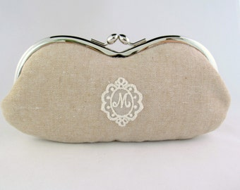Monogrammed Eyeglass Case - Personalized Glasses Case - Custom Glasses Case - Personalised Gift Ideas For Her - Eyeglass Case