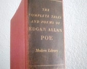 Vintage & near antique The Complete Tales and poems of Edgar Allan Poe HC book Modern Library NY by Random House 1938 intro by Hervey Allen