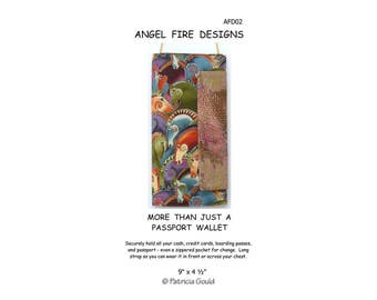 AFD02 - More Than Just a Passport Wallet Pattern by Patricia Gould