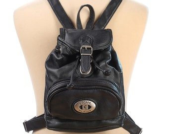 Leather BACKPACK 90s MICRO Small Real Leather Distressed Pack Bag Vintage Retro Medium Crossbody Rucksack Mini Knapsack Gift