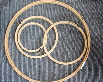 Lot of embroidery hoops