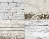 COMBO / FOUR PACK / 2ft x 2ft Mix and Match Wood Floordrops / Vinyl Photography Backdrops for Product Photos