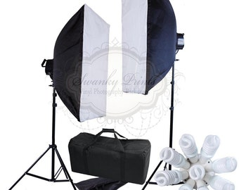 """EQUIPMENT Photography Lighting KIT / 20""""x28"""" Large Softbox Continuous Studio Lighting With Carry Case ITEM1076"""