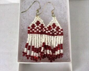 earrings red dangles