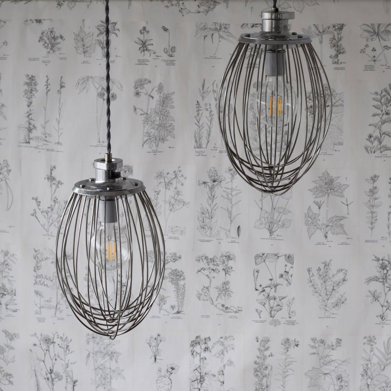 Industrial Whisk Pendant Light, Handmade Modern Lighting