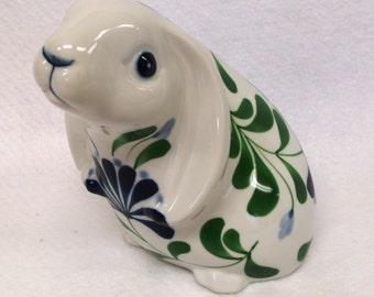 Adorable Dansk Rabbit Figurine, Sage Song Pattern