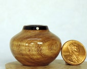 Mesquite and Rosewood Turned Wood Miniature Pot