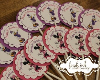 Minnie Mouse and Daisy Duck Cupcake Tops