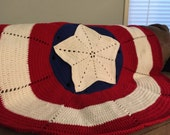 Crochet Pattern American Hero Blanket The Big One Adult Size-Inspired by Captain America Digital