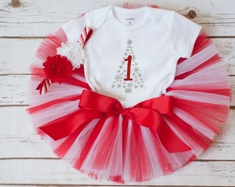 """Winter birthday outfit """"Ava"""" winter first birthday Christmas first birthday outfit Christmas birthday first birthday outfit girl tutu set"""