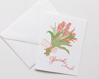 Thank You Card-Set of Six-Tulip Cards