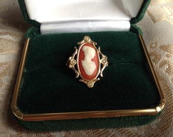 Vintage Avon Cameo Ring FREE US SHIP