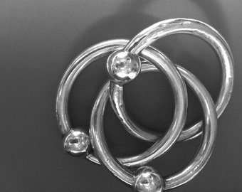 TIFFANY & CO. Sterling Three Ring Baby Rattle and Teether / Vintage / 925 Sterling / 3 Ring