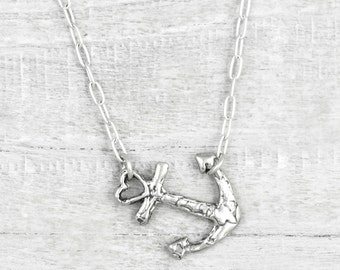 Swept Away Anchor Necklace- Anchor Jewelry- Nautical Necklace- Nautical Jewelry- Ocean Necklace - N720