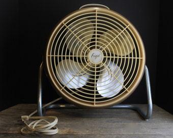 1950s Frigid Round Room Fan // Brooklyn New York // Urban // Bronze