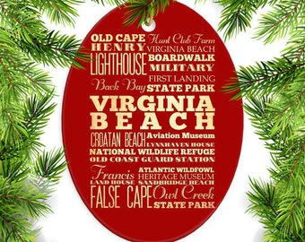Virginia Beach, Virginia Christmas Ornament