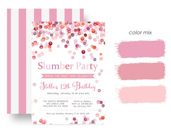 slumber party invite  etsy, Party invitations