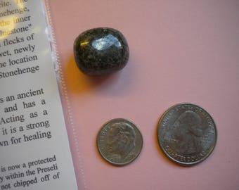 STONEHENGE BLUESTONE Polished Stone / Preseli Spotted Dolerite White Feldspar / Stone Henge England UK