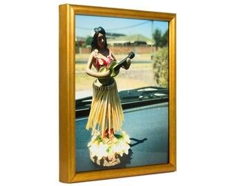 "Craig Frames, 16x20 Inch Brushed Gold Picture Frame, Bullnose, .5"" Wide (10281620)"