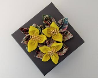 Gift / Jewelry Box with Fabric Flower Embellishment