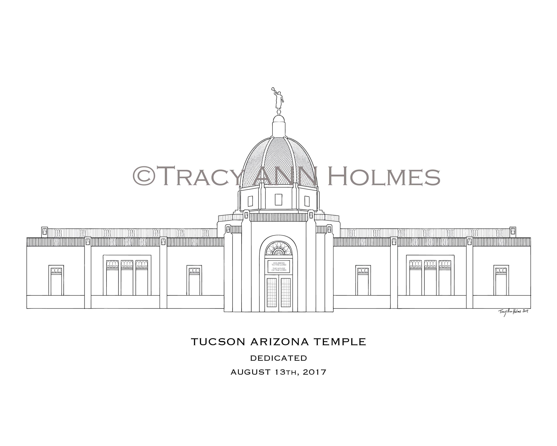 lds tucson arizona temple line art