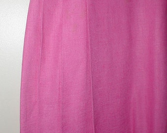 Chaus Petites Size 8 Pink Linen Skirt *Pleated On Sides* Pretty Shade *Summer Skirt*