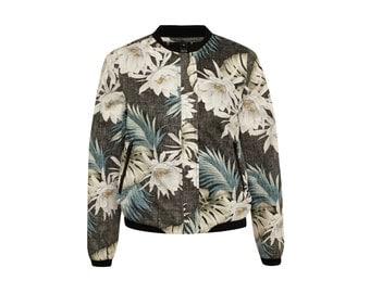 "ALOHA bomber jacket ""black sky flower"" size XS/S"